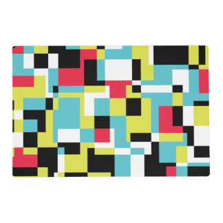 Texture with rectangles laminated place mat
