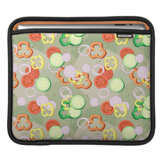 Texture With Slices Of Vegetables iPad Sleeves