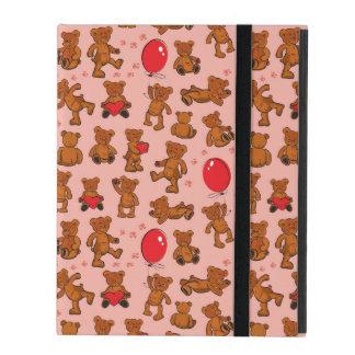 Texture With Teddy Bears, Hearts iPad Folio Case