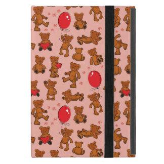 Texture With Teddy Bears, Hearts iPad Mini Case