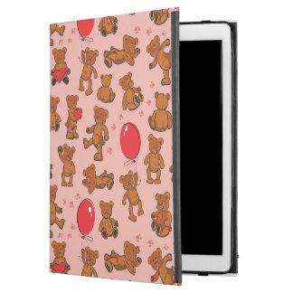 Texture With Teddy Bears, Hearts iPad Pro Case
