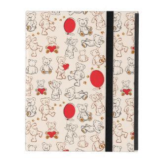 Texture With Teddy Bears iPad Covers