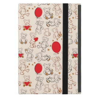 Texture With Teddy Bears iPad Mini Covers