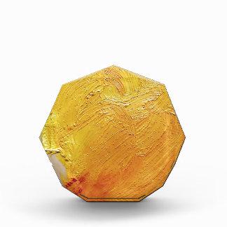Texture yellow paint stain acrylic award