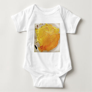 Texture yellow paint stain baby bodysuit