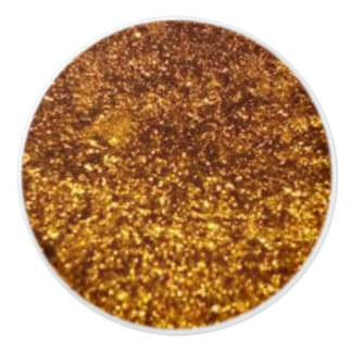 TextureBrown to Gold Leather Look Ceramic Knob