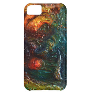 "Textured 3D Abstract ""Treasure Map 1"" Art Cover For iPhone 5C"