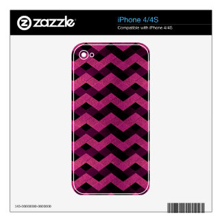 Textured Abstract Chevron Decal For iPhone 4