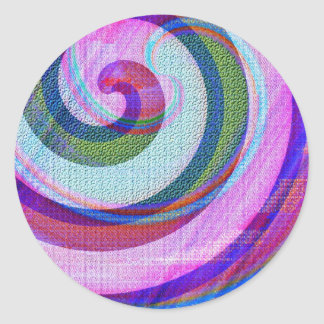Textured Abstract Classic Round Sticker