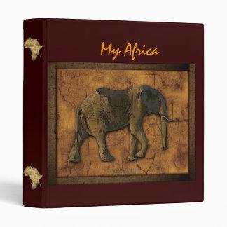 Textured AFRICAN ELEPHANT Binder
