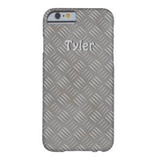 Textured Aluminum Look Faux Metal iphone Case Name