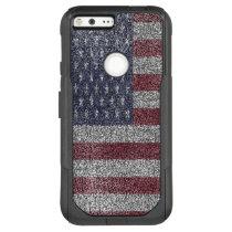 Textured American flag OtterBox Commuter Google Pixel XL Case