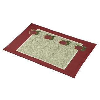 Textured Apples (cranberry/sage) Placemat Cloth Placemat