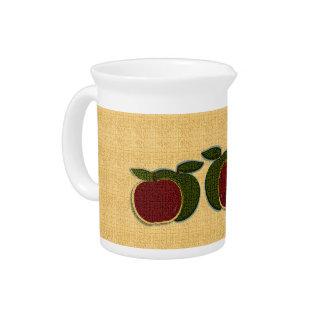 Textured Apples Creamer (gold) Beverage Pitcher
