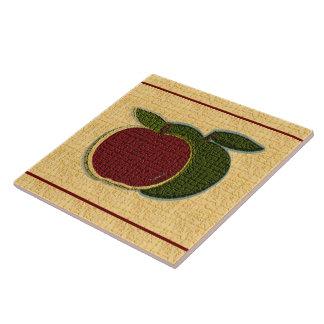 Textured Apples (gold) Ceramic Tiles