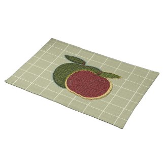 Textured Apples (sage) Placemat