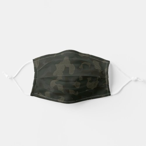 Textured Army Green Stylish Camouflage Pattern Cloth Face Mask