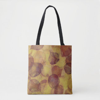 Textured Aspen Leaf Autumn Tote Bag