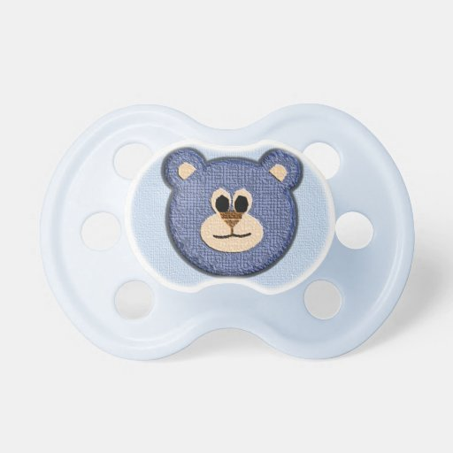 textured baby boy bear baby pacifiers zazzle