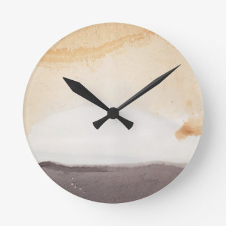 Textured background round clock