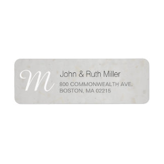 Textured Bamboo Paper 2 Monogram Address Labels