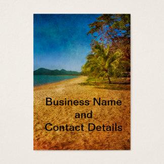 textured beach view business card