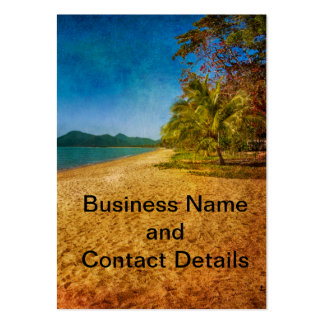 textured beach view large business card