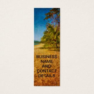 textured beach view mini business card