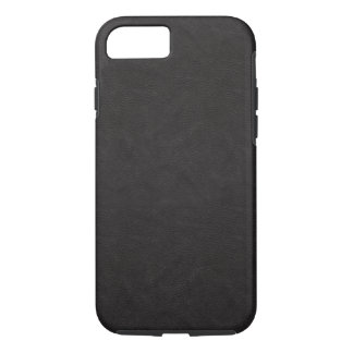 Textured Black Leather 2 iPhone 8/7 Case