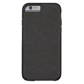 Textured Black Leather 2 Tough iPhone 6 Case