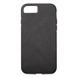 Textured Black Leather iPhone 7 Case