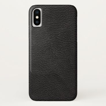 Professional Business Textured Black Leather iPhone X Case
