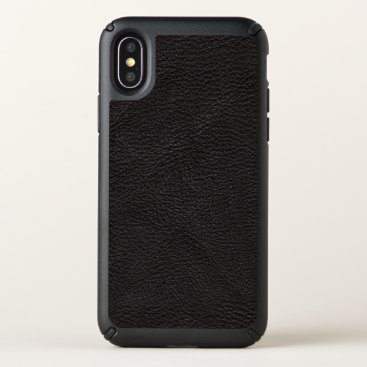 Professional Business Textured Black Leather Speck iPhone X Case