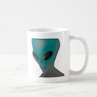 Textured blue grey alien. coffee mugs