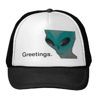 Textured blue grey alien. trucker hat