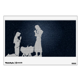 Textured Blue Nativity Wall Decal