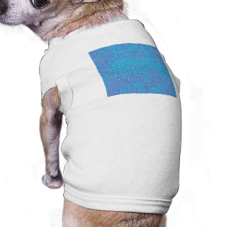 Textured Blue & Purple Abstract Dog T-shirt