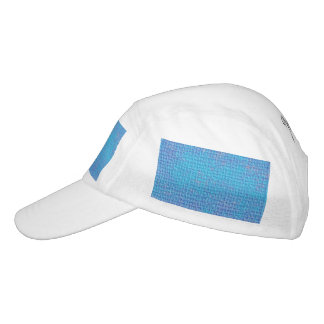 Textured Blue & Purple Abstract Headsweats Hat