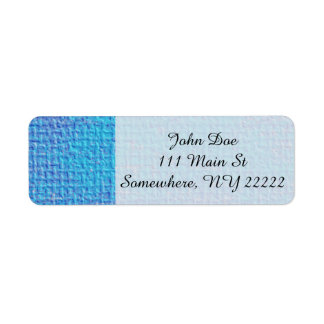 Textured Blue & Purple Abstract Label