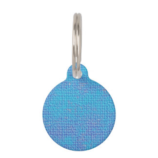 Textured Blue & Purple Abstract Pet Tag