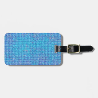 Textured Blue & Purple Abstract Tag For Luggage