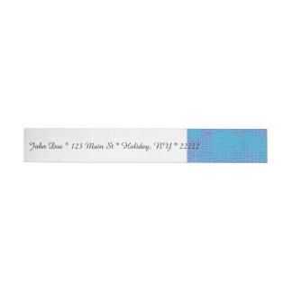 Textured Blue & Purple Abstract Wrap Around Address Label