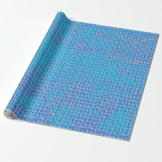 Textured Blue & Purple Abstract Wrapping Paper