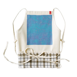 Textured Blue & Purple Abstract Zazzle HEART Apron