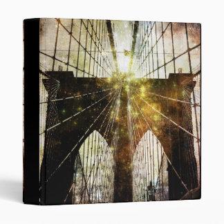 """Textured Blur Brooklyn Bridge 1"""" Photo Album Binder"""