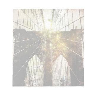 Textured Blur Brooklyn Bridge Notepad