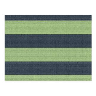 Textured Brown and Green Earth Tone Stripe Pattern Postcard