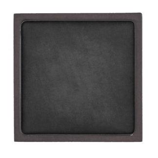 Textured Brushed look on Black Background Premium Keepsake Box