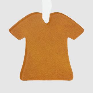Textured Burnt Orange Ornament