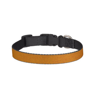 Textured Burnt Orange Pet Collar
